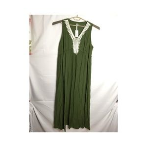 NY Collection Embroidered V-Neck Maxi Dress 3X G25